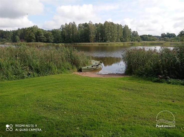 Sodyba prie Rašio ežero - iki ežero 100 m. Kubilas, valtis - 50