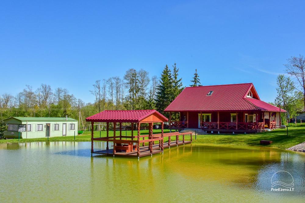 Sodyba prie Rašio ežero - iki ežero 100 m. Kubilas, valtis - 1