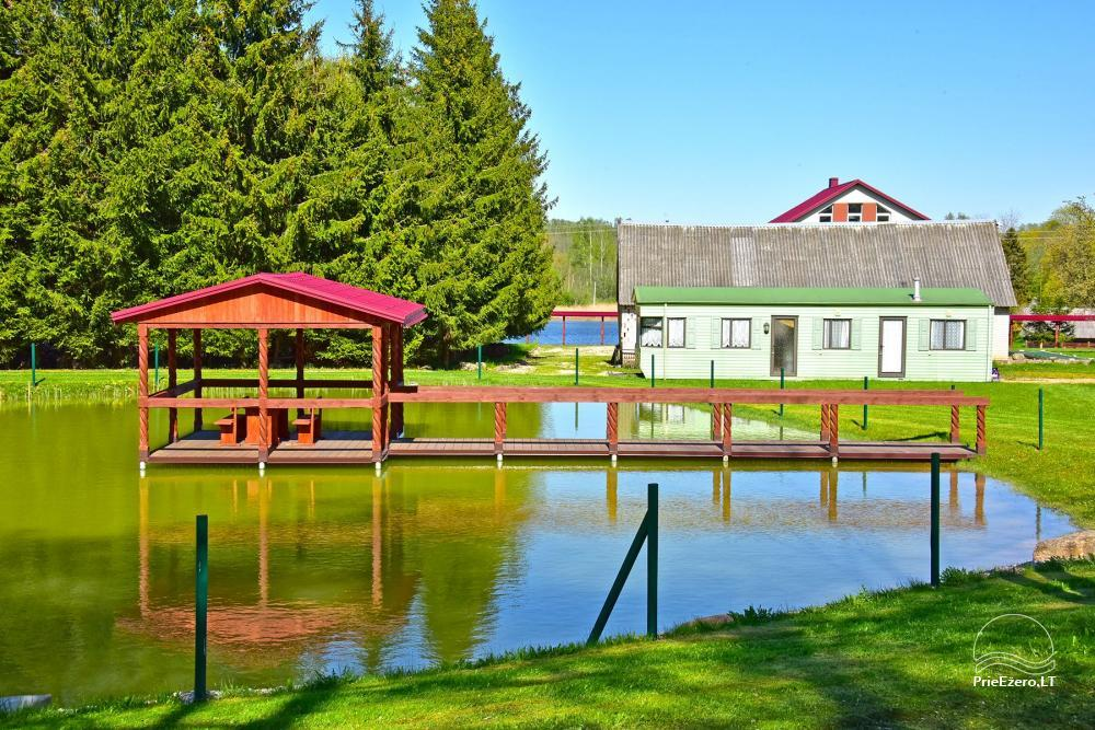 Sodyba prie Rašio ežero - iki ežero 100 m. Kubilas, valtis - 25