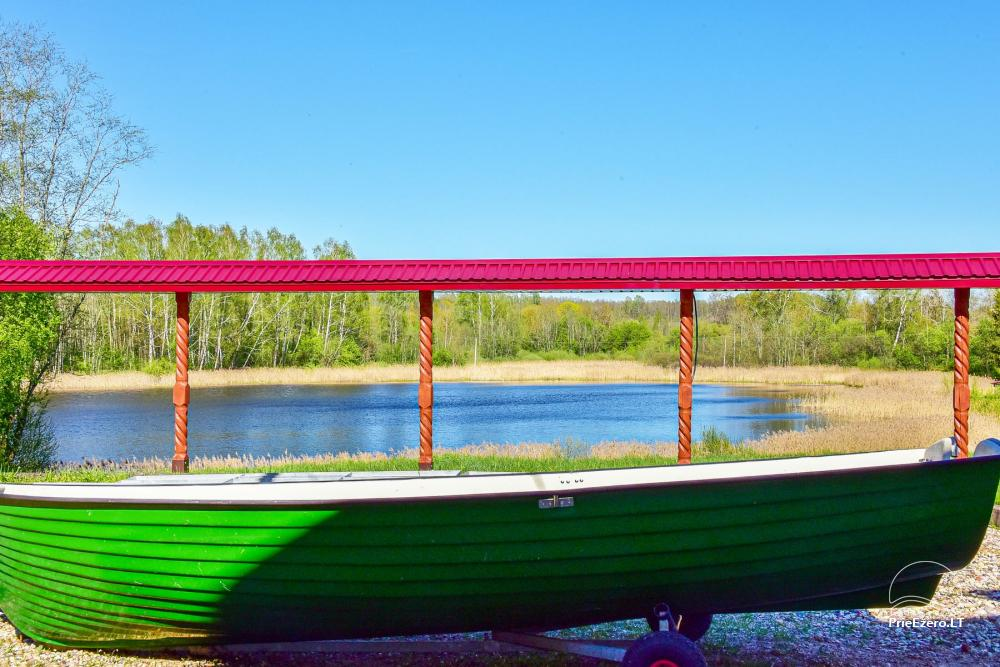 Sodyba prie Rašio ežero - iki ežero 100 m. Kubilas, valtis - 46