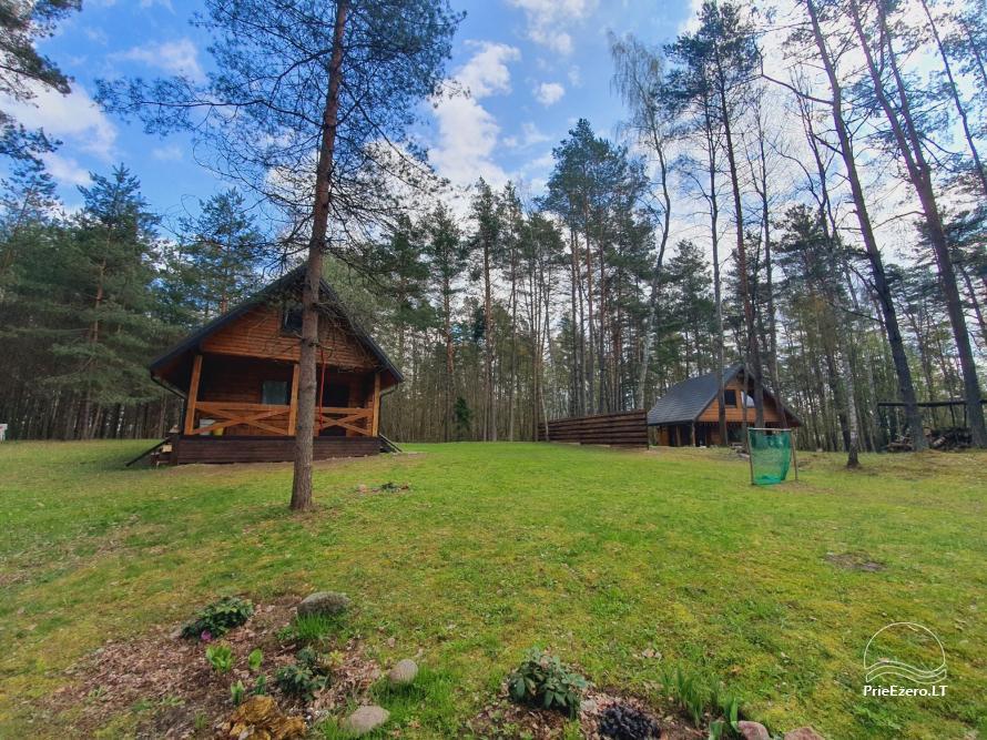 Du nameliai miške vienkiemyje su atskiromis ežero pakrantėmis - 15