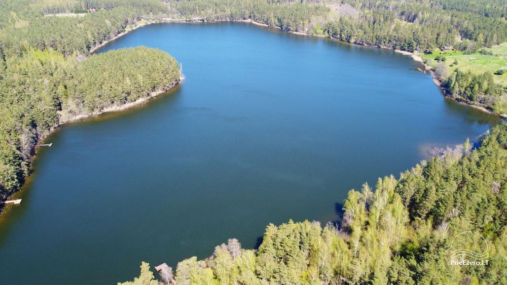 Du nameliai miške vienkiemyje su atskiromis ežero pakrantėmis - 25