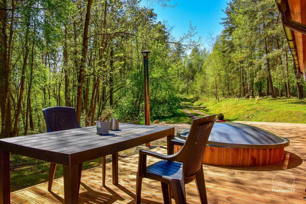 Du nameliai miške vienkiemyje su atskiromis ežero pakrantėmis - 30