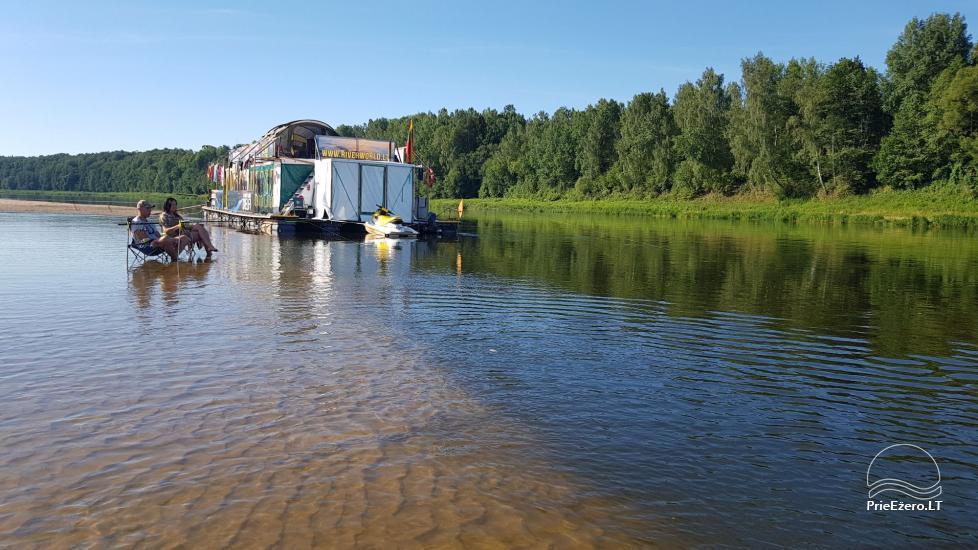Plausto NEMO nuoma Avirio ežere. Apgyvendinimas, maitinimas bei pirtis ant vandens! - 3