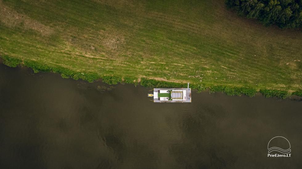 Plausto NEMO nuoma Avirio ežere. Apgyvendinimas, maitinimas bei pirtis ant vandens! - 6