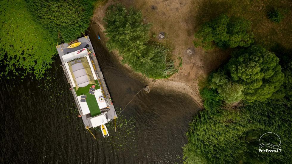 Plausto NEMO nuoma Avirio ežere. Apgyvendinimas, maitinimas bei pirtis ant vandens! - 8