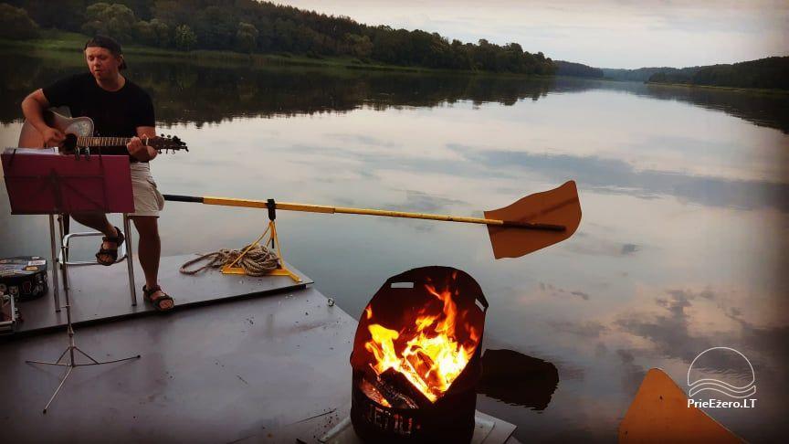 Plausto NEMO nuoma Avirio ežere. Apgyvendinimas, maitinimas bei pirtis ant vandens! - 23