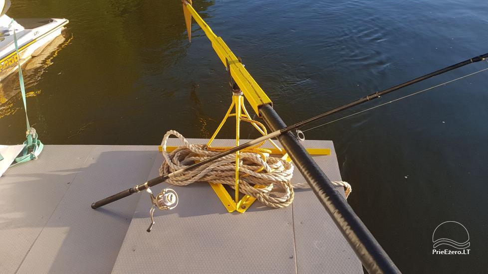 Plausto NEMO nuoma Avirio ežere. Apgyvendinimas, maitinimas bei pirtis ant vandens! - 28