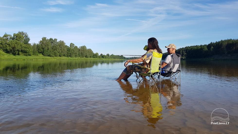 Plausto NEMO nuoma Avirio ežere. Apgyvendinimas, maitinimas bei pirtis ant vandens! - 30