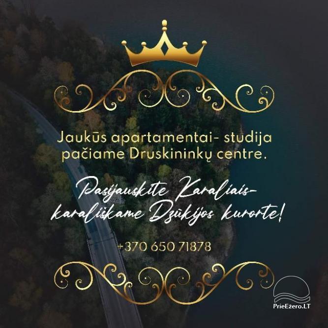 Druskininkų centre nuomojami jaukūs nedideli butai-studijos, Čiurlionio g., šalia Šaulio žiedo. - 15