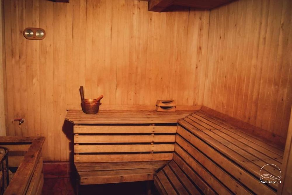 Sodyba gamtos apsuptyje su pirtimi kubilu ir pobuvių sale - 10