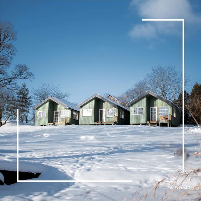 4 viečiai nameliai su pilnais patogumais ant ežero kranto netoli Platelių - 1