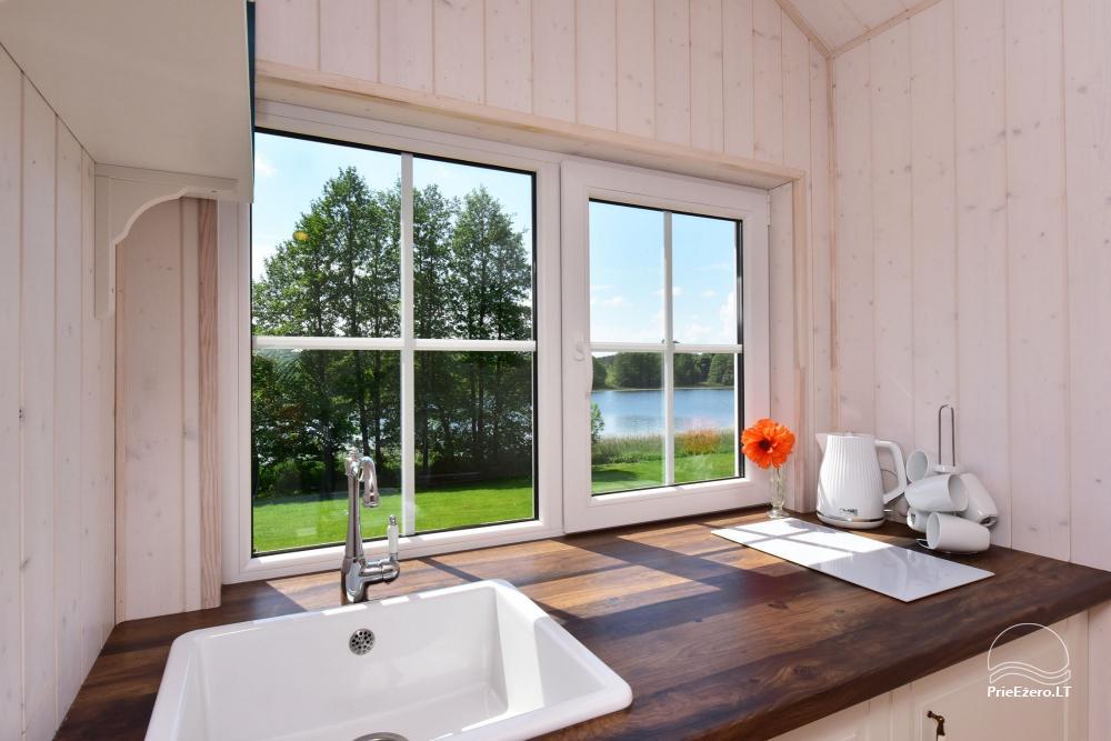 """4-viečiai nameliai su pilnais patogumais ant ežero kranto netoli Platelių """"Mint4Rest"""" - 1"""