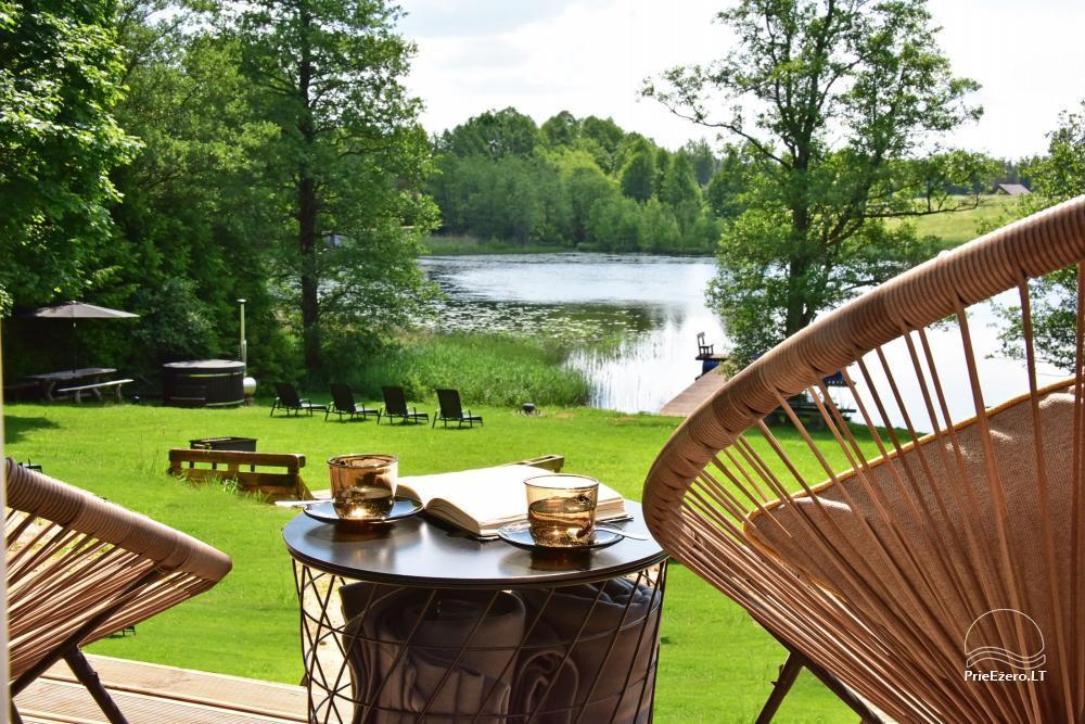 """4-viečiai nameliai su pilnais patogumais ant ežero kranto netoli Platelių """"Mint4Rest"""" - 6"""