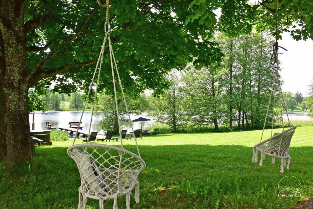 """4-viečiai nameliai su pilnais patogumais ant ežero kranto netoli Platelių """"Mint4Rest"""" - 8"""