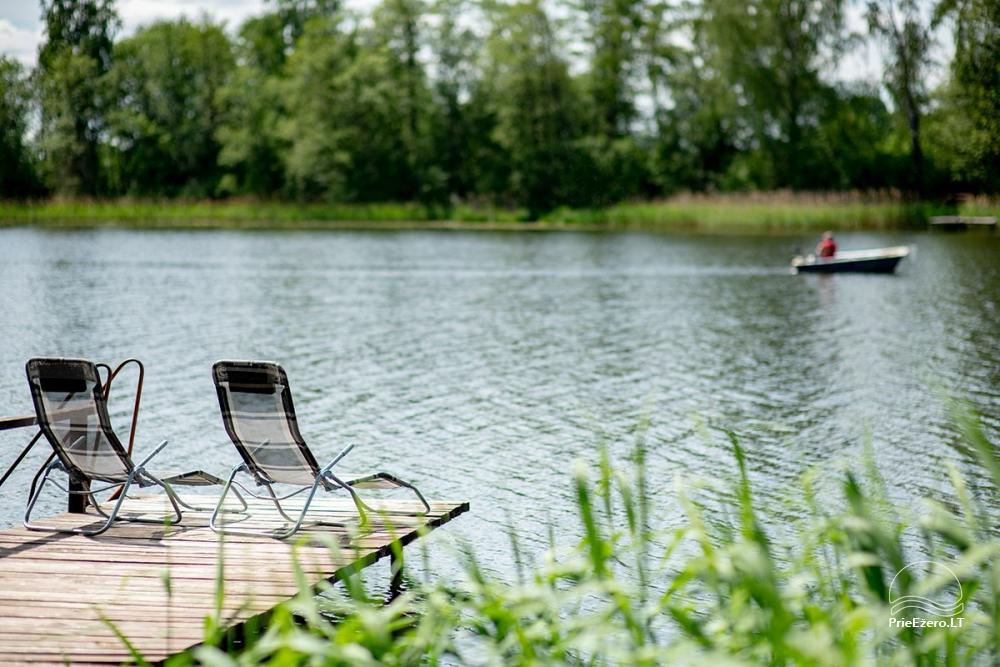 Sodyba VieniKrante ramiam poros ar šeimos poilsiui ant ežero kranto - 12