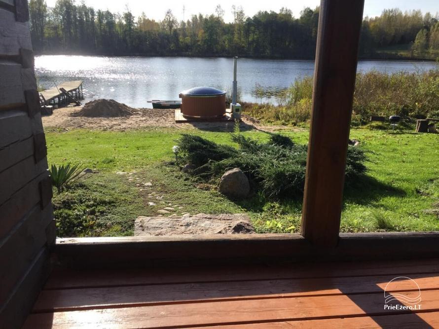 Privati sodyba Utenos raj.  VillaRedvita ant ežero kranto.  Be kaimynų. - 6
