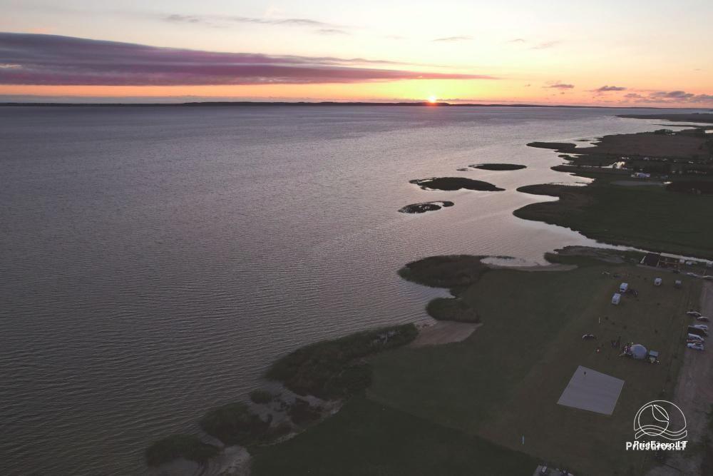 Fenas Kite Spot kempingas ant Kuršių marių kranto Svencelėje - 2