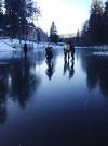 Čiuožinėjimas ant Sultekio tvenkinio ledo