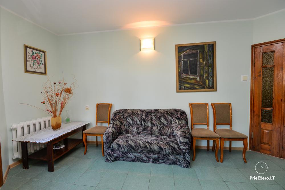 Dineikos parko svečių namai Druskininkų centre ant Ratnyčėlės kranto: kiemelis, supynės, terasa - 9