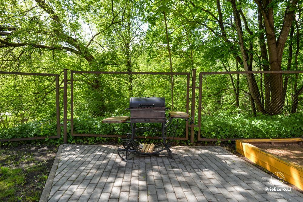 Dineikos parko svečių namai Druskininkų centre ant Ratnyčėlės kranto: kiemelis, supynės, terasa - 13