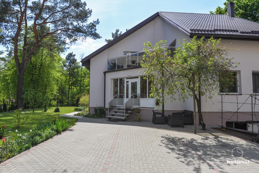 Dineikos parko svečių namai Druskininkų centre ant Ratnyčėlės kranto: kiemelis, supynės, terasa - 2