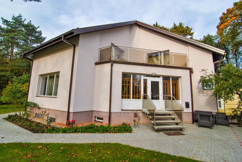 Svečių namai Druskininkų centre ant Ratnyčėlės kranto: kiemelis, supynės, terasa - 11