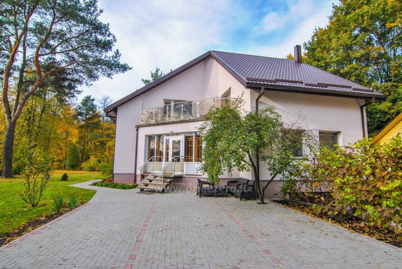 Svečių namai Druskininkų centre ant Ratnyčėlės kranto: kiemelis, supynės, terasa - 1