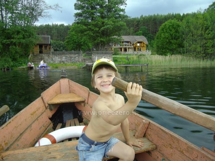 Sodybos nuoma.Atskirų namukų su patogumais nuoma prie ežero. Pirties namo nuoma - 14