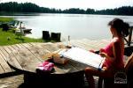 Sodyba Pas tėvukus Žemaitijos nacionaliniame parke ant Beržoro ežero kranto. - 8