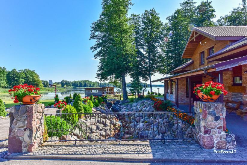 Genutės Ranča Alytaus raj.: salė iki 70asm., nameliai, pirtis, didelė terasa - 1