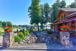 Genutės Ranča Alytaus raj.: salė iki 70asm., nameliai, pirtis, didelė terasa