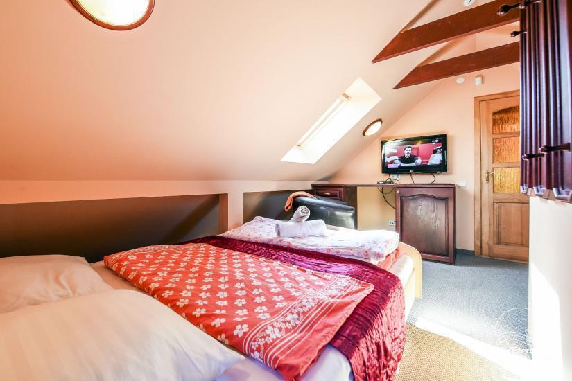 Dviejų miegamųjų apartamentai per du aukštus