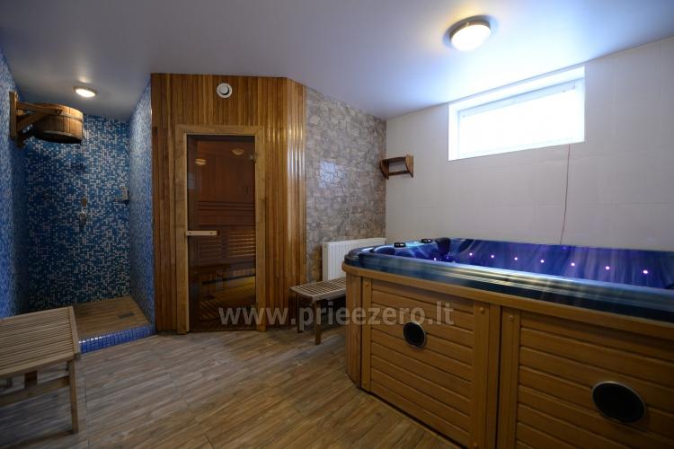 Kambarių bei pokylių salės su Jakuzzi ir sauna (iki 34 asm) nuoma sodyboje Spa Villa Trakai - 55