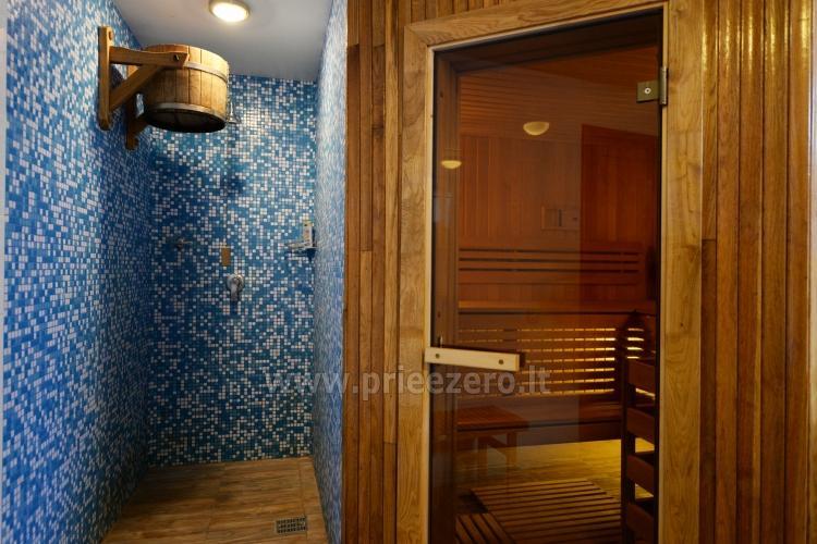 Kambarių bei pokylių salės su Jakuzzi ir sauna (iki 34 asm) nuoma sodyboje Spa Villa Trakai - 57