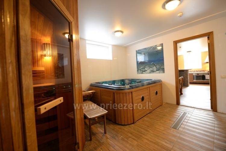 Kambarių bei pokylių salės su Jakuzzi ir sauna (iki 34 asm) nuoma sodyboje Spa Villa Trakai - 56