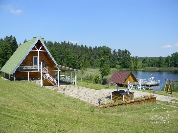 Sodyba ant ežero kranto Nečiūnai.  Pirtis, kubilas, valtys, sportas - 7