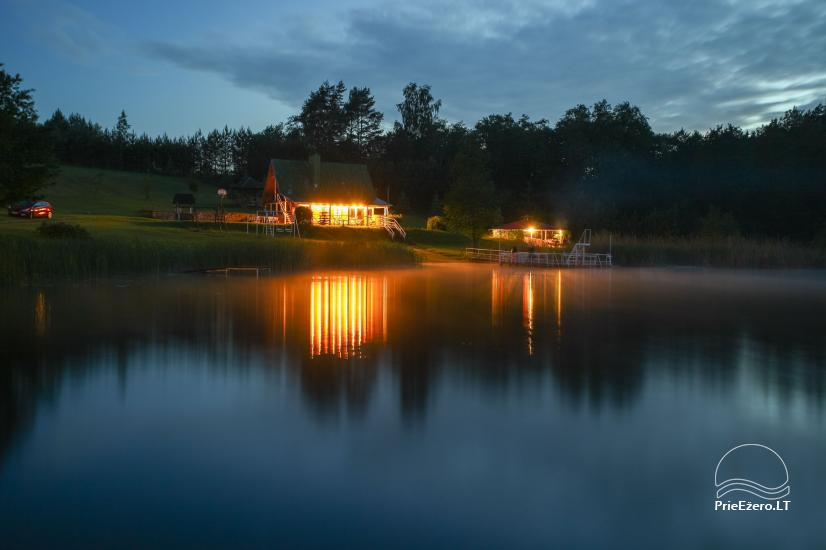 Sodyba ant ežero kranto Nečiūnai.  Pirtis, kubilas, valtys, sportas - 1