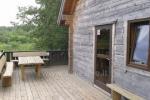 Svečių namelis su pirtele ant ežero kranto Ėgliškiuose, Kretingos rajone