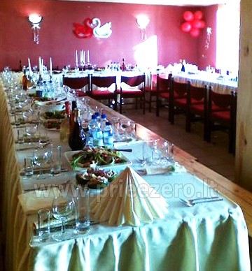 40 vietų salė vestuvėms, krikštynoms, gimtadieniui, įmonės šventei Molėtų rajone prie Bebrusų ežero sodyboje Giedrita - 1