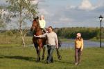 Jojimas žirgais Ventspilio rajone svečių namuose prie Ventos upės Ventaskrasti
