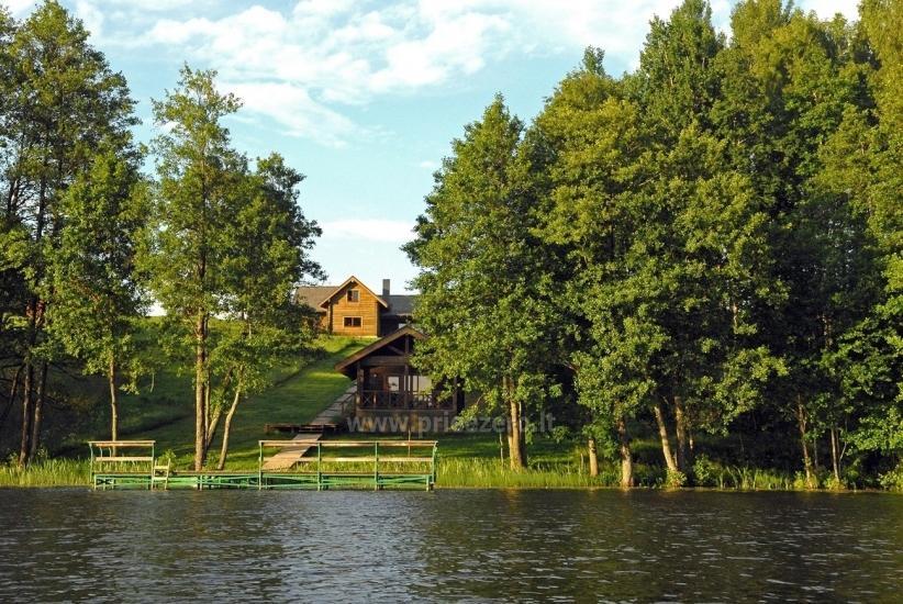 Pirtis ir kubilas sodyboje Olandų Kaimelis ant ežero kranto - 5