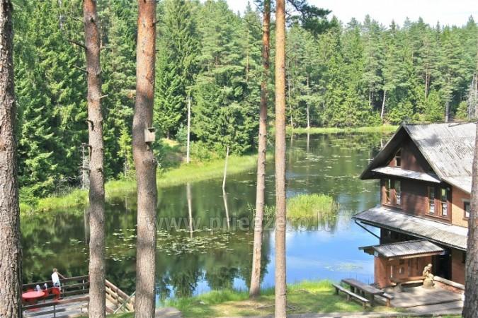 12 vietų vasarnamis su pirtimi ir kambariais prie Platelių ežero Saulės slėnis - 1
