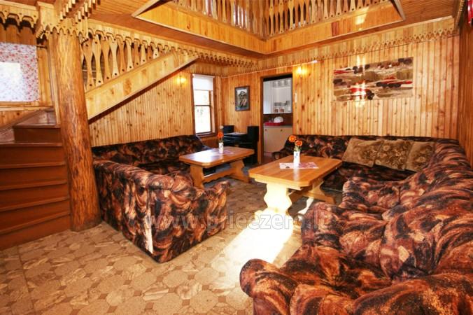 12 vietų vasarnamis su pirtimi ir kambariais prie Platelių ežero Saulės slėnis - 5