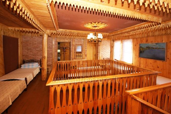 12 vietų vasarnamis su pirtimi ir kambariais prie Platelių ežero Saulės slėnis - 8