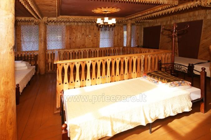 12 vietų vasarnamis su pirtimi ir kambariais prie Platelių ežero Saulės slėnis - 9
