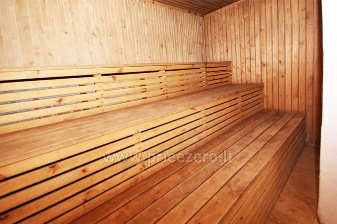 12 vietų vasarnamis su pirtimi ir kambariais prie Platelių ežero Saulės slėnis - 11