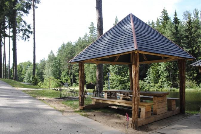 12 vietų vasarnamis su pirtimi ir kambariais prie Platelių ežero Saulės slėnis - 3