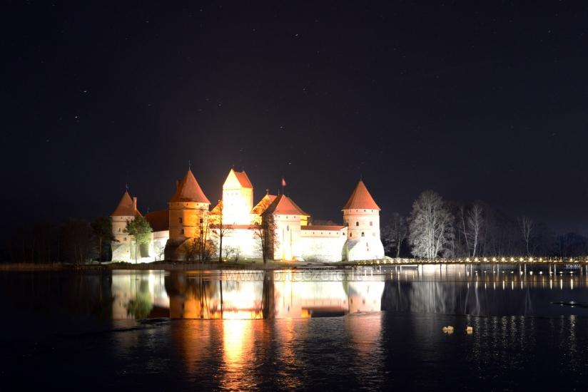 Trakų pilis žiemą Šv. Kalėdų - Naujųjų metų laikotarpiu