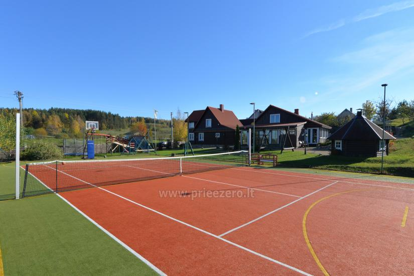 Teniso kortai, krepšinio ir tinklinio aikštelė sodyboje Saulėtekis Ignalinoje - 2